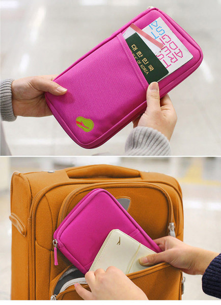 DHL free 100pcs/lot Cheap Candy Color Travel Passport Credit ID Card Holder Cash Wallet Organizer Bag Purse Wallet