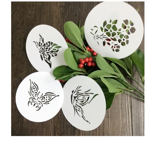 Estênceis de desenho kit de borboleta (4 pcs) modelo de Mascaramento Para álbum de Scrapbooking cardmaking pintura cartões DIY 221