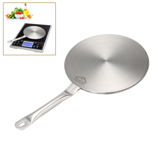 """Hot Sale !!! Silver Induction Cooktop Converter Size 8"""" / 9"""" Disk Stainless Steel Plate Cookware FREE SHIPPING"""