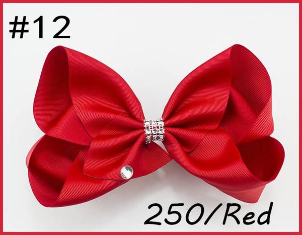 free shipping 30pcs 8''rhinestone hair bows big Signature Hair Bow Dance Cheerleader Pageant accessories