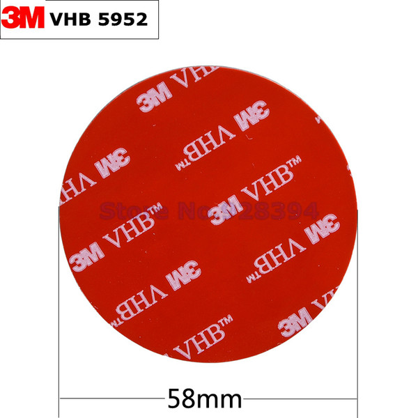 Wholesale- 2016 10pcs/lot 3M VHB 5952 Heavy Duty Double Sided Adhesive Acrylic Foam Tape Black 58mmx1.1mm Round