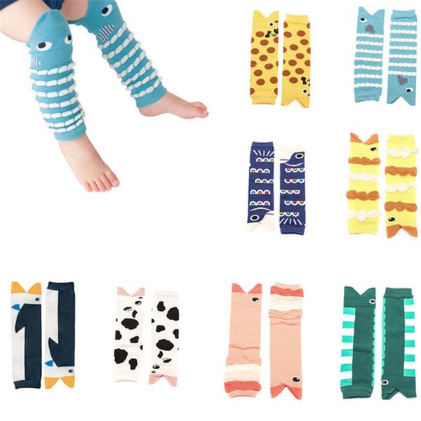 Bande Dessinée Mignonne Animal Design Coton Bébé Jambe Enfant Toddler Garçons Filles Genouillère Longueur 30cm