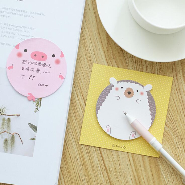 top popular Wholesale- Crazy Animal Pig Seals Panda Hedgehog Memo Pad Sticky Notes Memo Notepad School Office Supply Escolar Papelaria Gift Stationery 2020