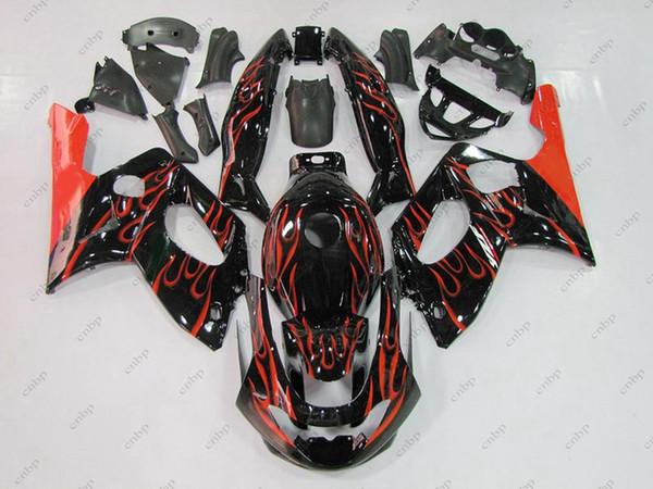 ABS Verkleidung für YAMAHA YZF600R 96 97 Kunststoffverkleidungen Thundercat 06 07 Black Red Flame Komplettverkleidungen YZF 600R 02 03 1997 - 2007