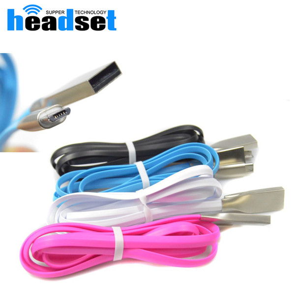 2a 1 м Micro USB кабель цинковый сплав металл TPE шнур синхронизации данных провод зарядное устройство для Samsung Galaxy S4 S3 S6 для HTC Android телефонный кабель