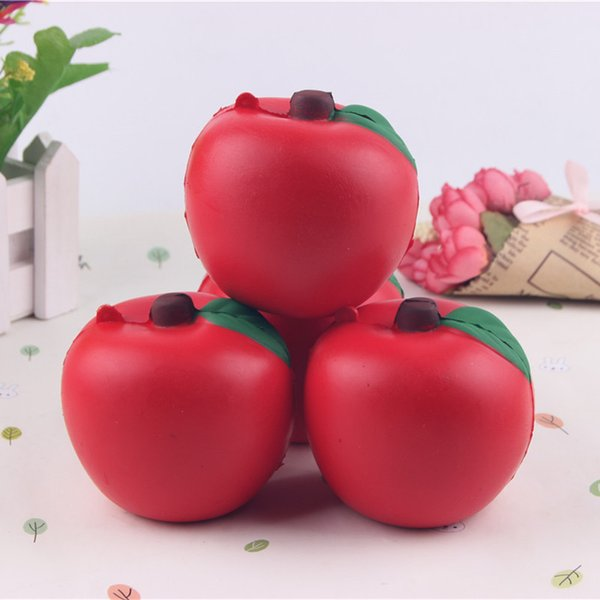 Kawaii Apple Squishy Toys Fruit Slow Rising Jumbo Scented Squeeze Phone Charms Stress Reliever Gift for Kids