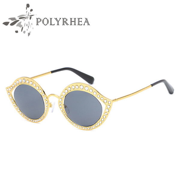 2018 Women Brand Designer Sunglasses Retro Round Polarized Sunglasses UV Protection Glasses Retro Eyewear With Box And Cases