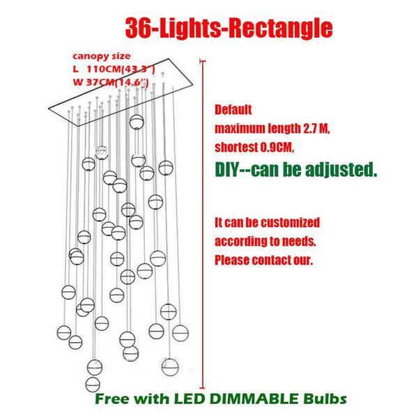 36 Jefes L110 * W37cm rectangulares