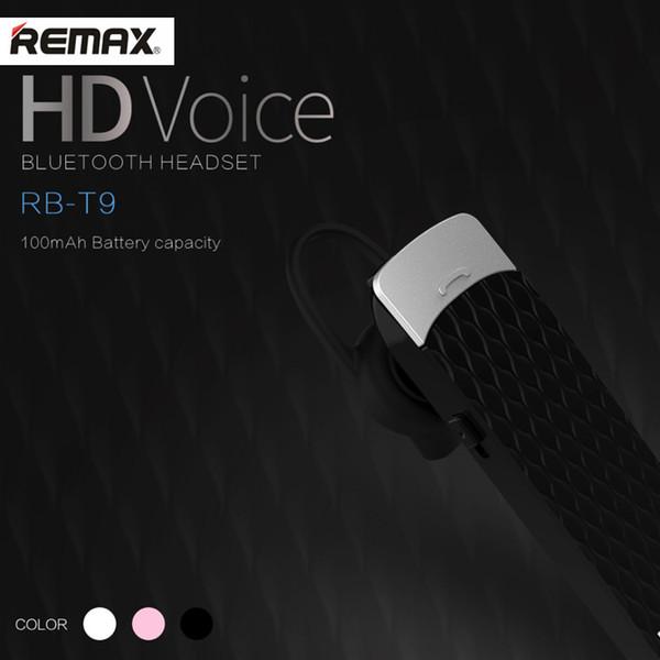 Remax RB-T9 Gancho para la oreja Auricular Bluetooth Inalámbrico Música Auricular Car kit Manos libres Auricular Auricular para deportes al aire libre