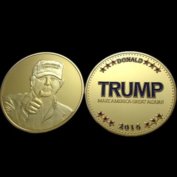 2019 The United States Republican Presidential Candidate Donald Trump  Challenge Coin 2016 Make America Great Again Gold Plated Souvenir Coin From
