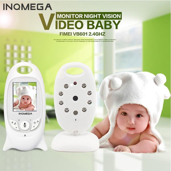 Wholesale- Night Vision Wifi Monitor Baby Digital Video Monitor Camera Two-way Audio Music Temperature Display Radio Camera