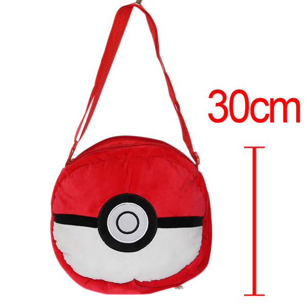 Pocket Doll Movies Bulbasaur Squirtle Charmander Baby Kids Plush Backpack School Bag Storage Bag Toys 30Cm Children 'S Gift