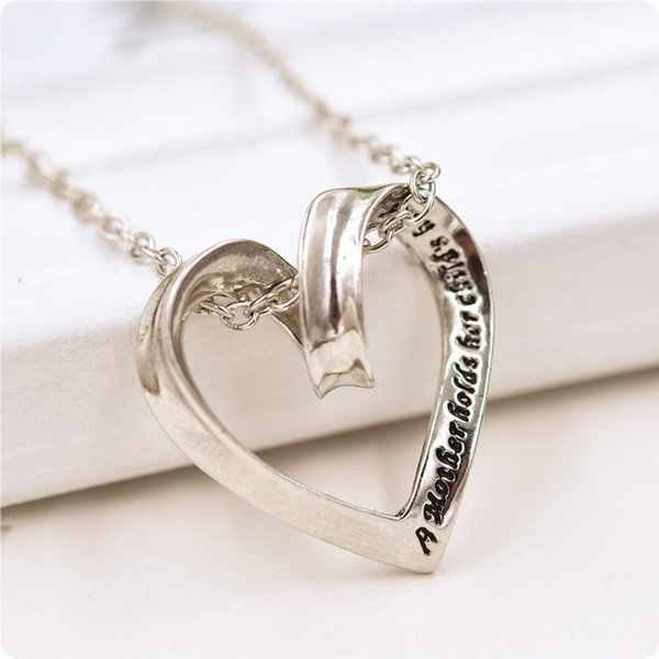 New Wholesales Heart necklace Silver Mom God Mother Pendant necklace 40% discount Good Jewelry love Mother Day Thanksgiving Gift 4 styles