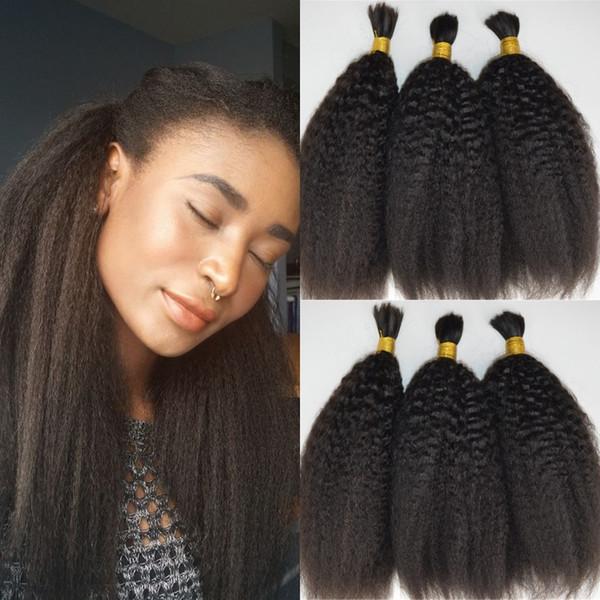 Kinky Straight Mongolian Bulk Human Hair For Braiding 100% Unprocessed Human Braiding Hair Bulk No Weft G-EASY