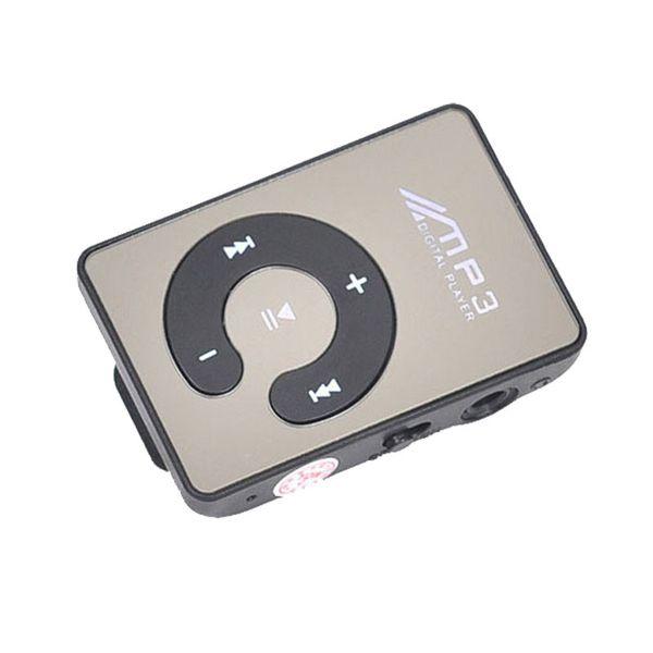 Al por mayor-2017 Venta caliente Espejo Clip USB Digital reproductor mp3 Reproductor de música Soporte 1-8GB SD TF Tarjeta lettore mp3 #EW