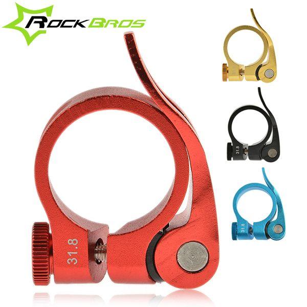 ROCKBROS Aluminium Ultraleicht Schnellspanner Rennrad MTB Mountainbike Sattelstütze Sattelstützenklemme 31,8mm 34,9mm 40g, 4Color Großhandel