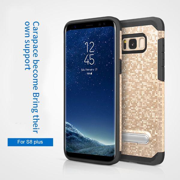 Per Iphone 7 7plus 6 6s plus 5S Samsung S8 plus S8 S7 Edge S7 Defender Armor Kickstand Slim Hybrid PC + Custodia antiurto TPU