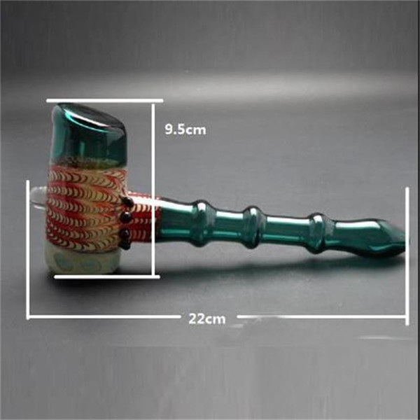 Vintage Colored Smoking Pipes Hammer Shape Dab Bubble Hookahs Hot Sell Fast Delivery Bong Pipes In Stock