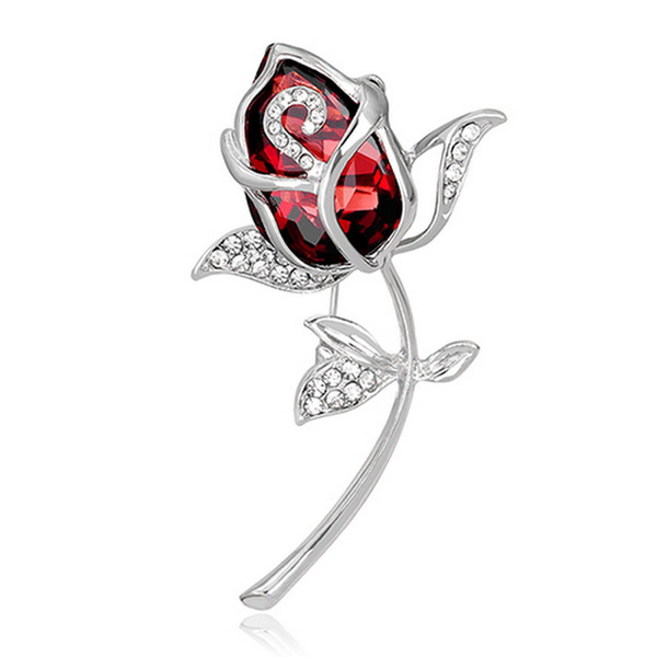 Large broche female vintage flower brooch for scarf collar pin and brooches for women rhinestone brooch badges jewelry fashion