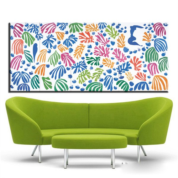 ZZ1740 Canvas Art Wall Pictures Para Sala de estar Henri Matisse Pintura Recortes Cuadros Decoracion Home Decor Impresso pinturas