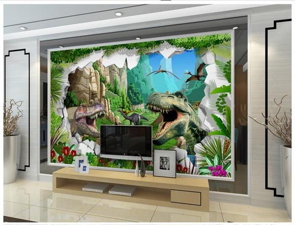 3D photo wallpaper custom size mural non-woven wall ancient dinosaur era icture home decoration mural wall 3D Mural wallpaper Free shipping