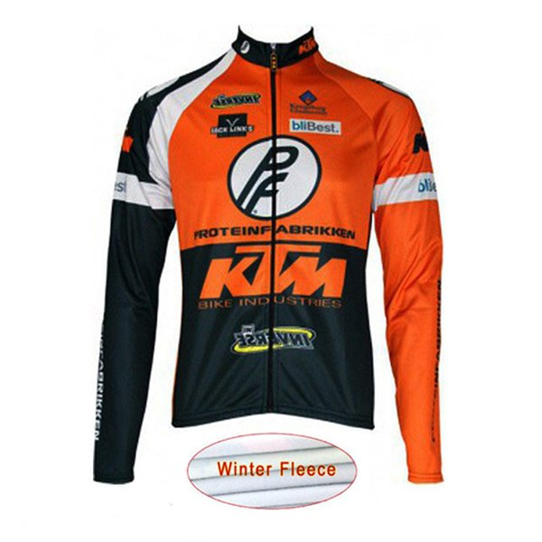 KTM Cycling Jersey Winter thermal fleece long sleeve Bicycle clothing mens  tour de france cycling clothing