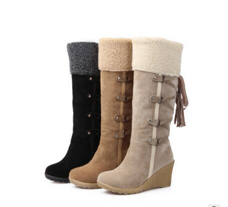 High quality women's snow boots, winter boots ankle leisure brand winter shoes, women's boots plush warm fur shoes Tall canister boots