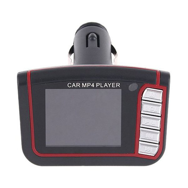 """top popular 80pcs New LCD Car MP3 MP4 1.8"""" Player FM Transmitter Free DHL Fedex shipping Through cigarette lighter of your car 2021"""