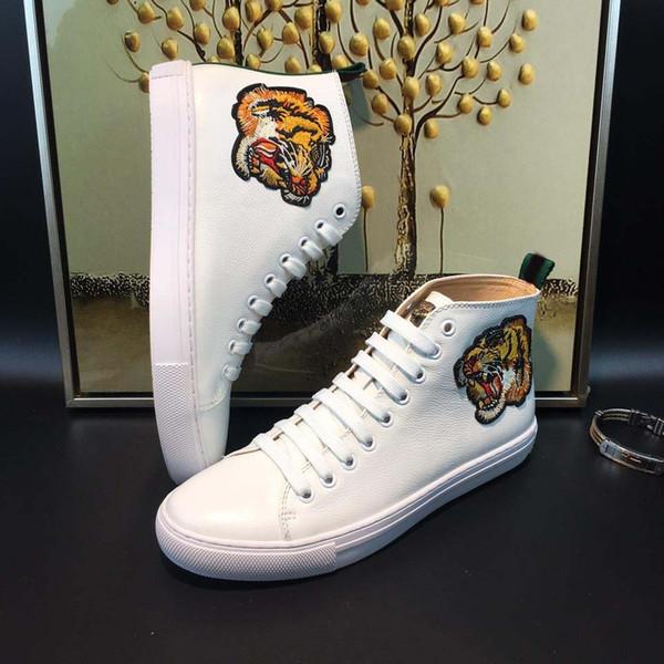 Acheter Italie Style Hommes Bottes Mode Hommes Chaussures Cowboy Boot Véritable Cuir Demi Bottes À Plat Talon Toes Toes Animal Imprime Modèle