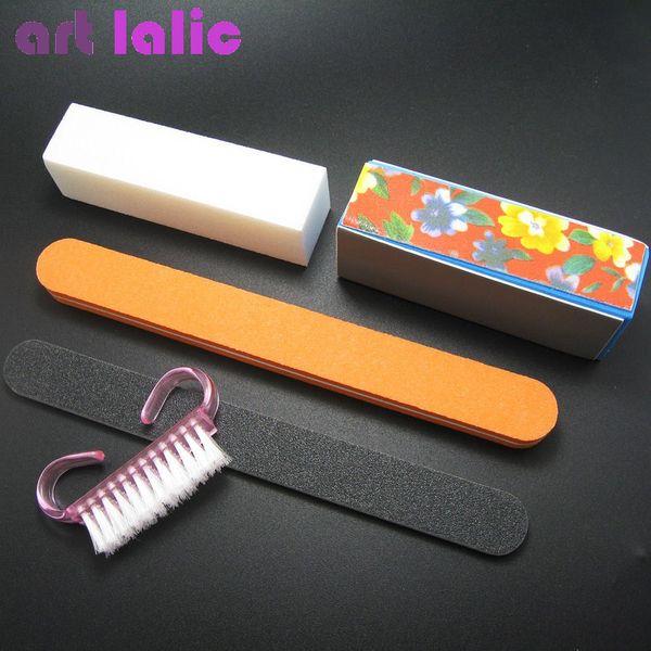 5Pcs/set Professional Manicure Tools Kit Rectangular Nail Files Brush Buffer Block Nail Art Tool For Nail art