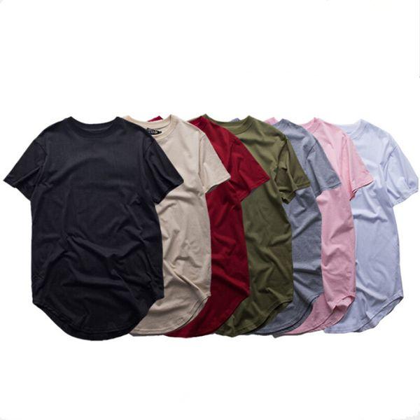 Wholesale-Summer 2016 men fashion extended t shirt longline hip hop tee shirts women justin bieber swag clothes harajuku rock tshirt homme