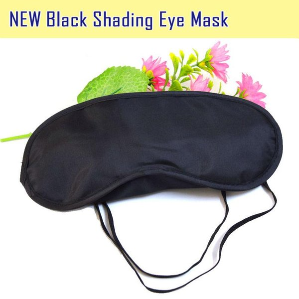 top popular black sleeping eye mask Travel Eye Mask Sleep Sleeping Shade Cover Nap Light Soft Rest Blindfold 500pcs 2019