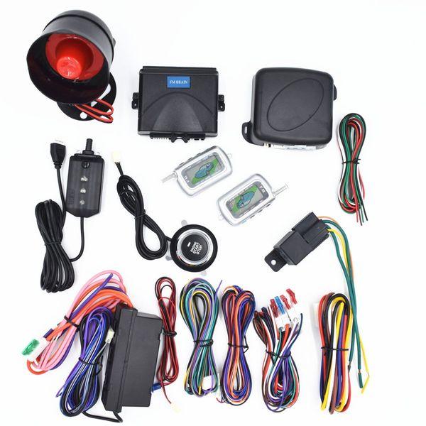CarBest 2 Way LCD Sensor Remote Engine Start System Kit Automatic | One Button Engine Start System | Car Burglar Alarm System CA-999