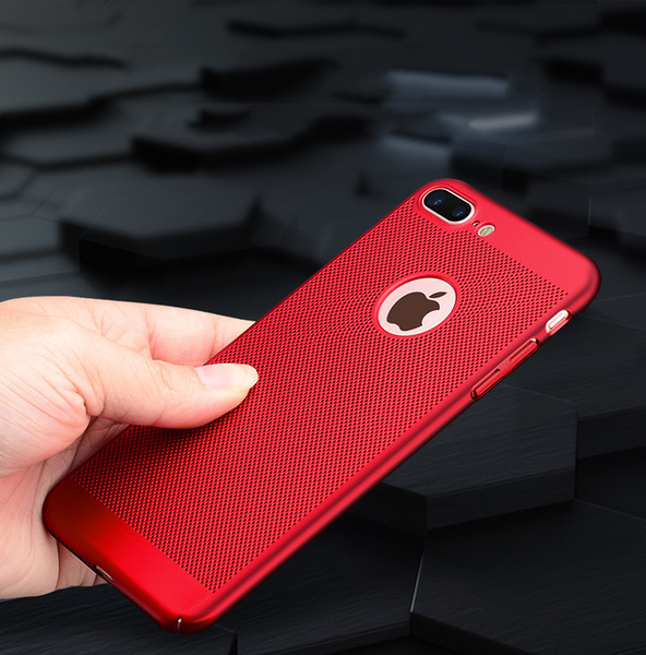2017 New For Apple iPhone 7 Case Honeycomb Back Cover Heat Dissipation Cooling Housing For iPhone 6 6s Plus Phone Cases