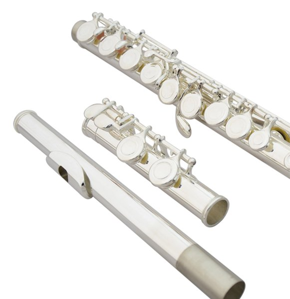 Free Shipping New High Quality Brand Flute YFL-371 Silver Plated 16 Closed Holes C Key Flute With Case and Accessories