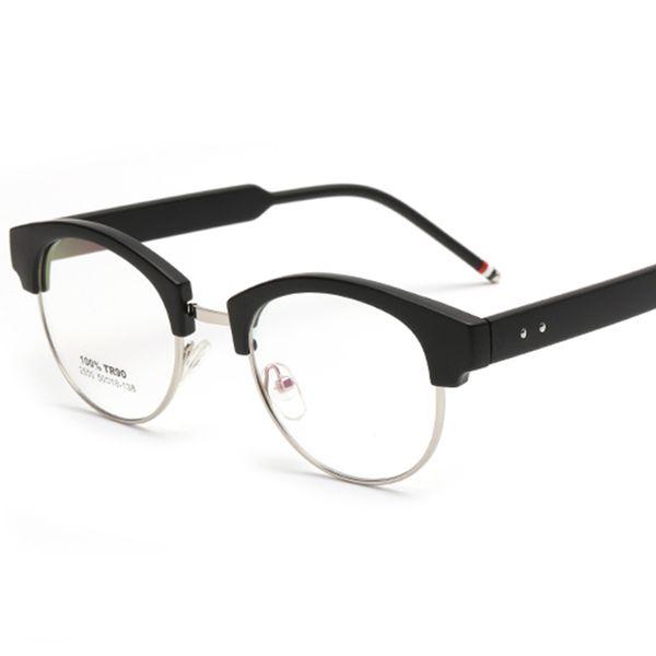 Wholesale- TR90 Super Light Female Grade Glasses Frame Plastic Titanium Spectacle Frame Female Transparent Glasses with Clear Lens