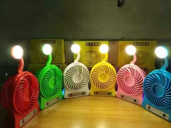 Creative USB rechargeable portable mini fan fan third wind ultra quiet fan hand