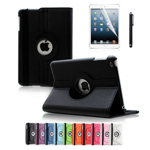 For Apple iPad 2018 360 Degree Rotating Stand Case Cover with Auto Sleep/Wake Feature Leather case for Apple iPad 2/3/4 air/air2 /pro