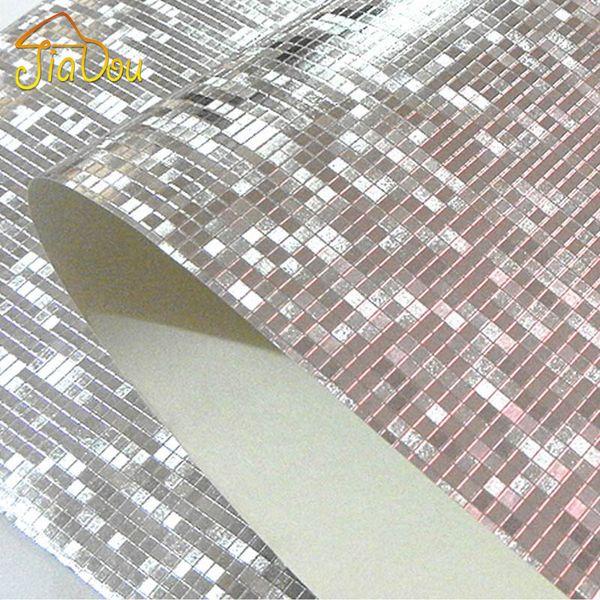 Großhandels-Luxus-Glitter-Mosaik-Tapeten-Hintergrund-Wand-Tapete Goldfolien-Tapete-Silber-Decken-Wandverkleidung Papel De Parede