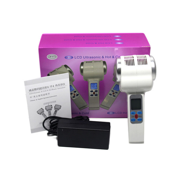Ultrasound Hot Cold Hammer Body Slimming Face Lifting Ultrasonic Cold Hot Hammer Therapy Lymphatic Massage Machine Beauty Salon Device