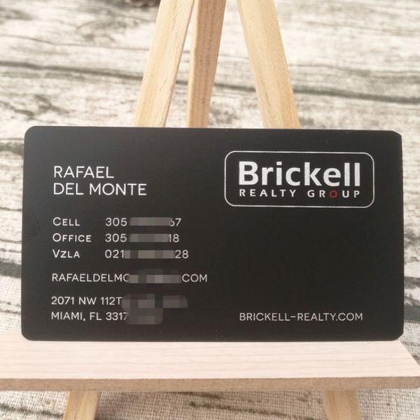 Großhandel Visitenkarte Fabrik Mini Matt Schwarz Metall Karte Mit Silber Farbe Druck 76x44mm 100 Stück Pro Los Von Bestceocard 145 42 Auf