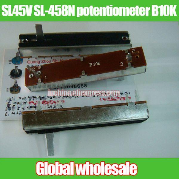 All'ingrosso- 1pcs SL45V SL-458N 72 MM dritto potenziometro a scorrimento B10K / single linkage fader B10K lunghezza impugnatura 15MMC