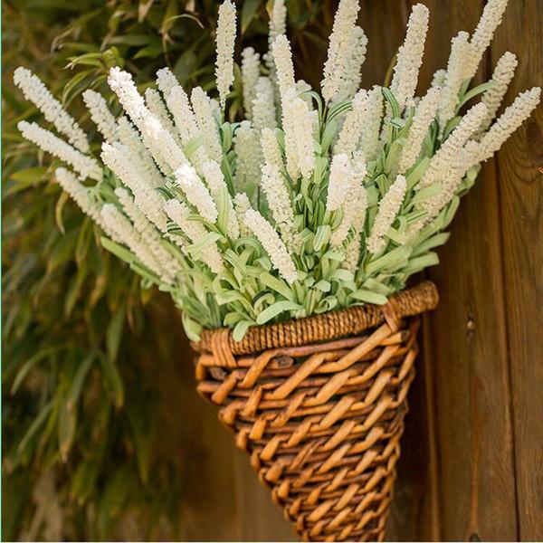 Artificial Provence Lavender Flores de seda Flores Simulação flor simulação da planta Plantas Flores Adorno Família Decoração do casamento