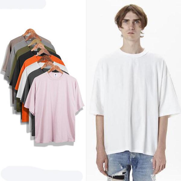 Toptan boy t shirt homme Kanye WEST giysileri Sezon tarzı t-shirt hip hop tshirt streetwear erkek t shirt