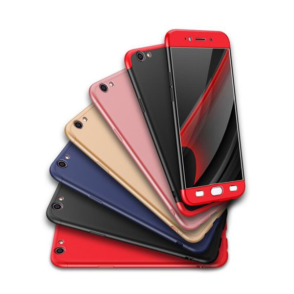 For Oppo R11S R11 Plus 3 in 1 360 Degree Phone Case Hard Back Cover Ultra Thin PC Cover
