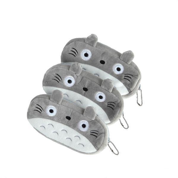 15 pcs/lot Cartoon Totoro Style Plush Zipper Pencil Bags Cosmetic Bag Pouch Writing Supplies Office & School Supplies