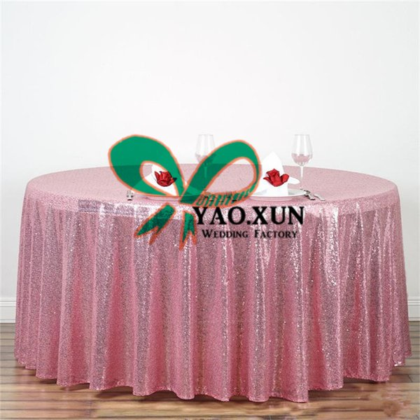 best selling Whoesale Price Round Sequin Table Cloth \ Cheap Wedding Tablecloth Free Shipping