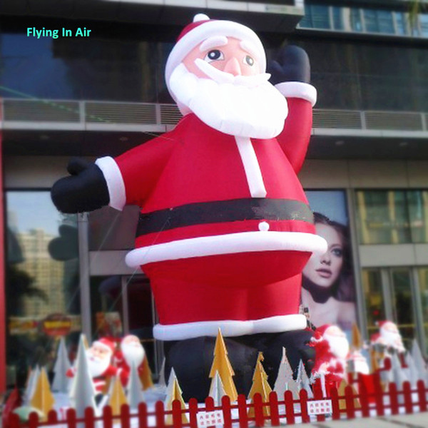 3m/5m Welcome Inflatable Santa Claus Christmas Decorative Beckoning Santa