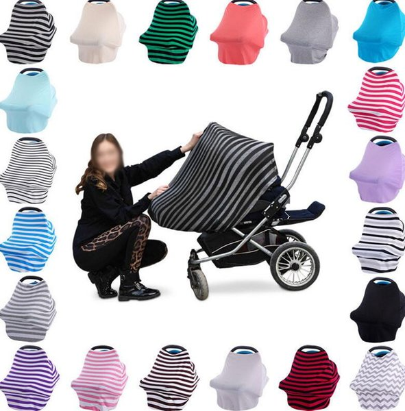 Multi-Use Baby Car Seat Cover Canopy Nursing Breastfeeding Shopping Cart High Chair Cover INS Stroller Sleep Buggy Cover KKA1479