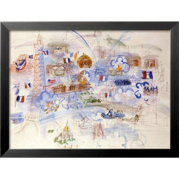 Peinture à l'huile colorée Raoul Dufy art moderne Paris 14 Juillet Paysages Haute qualité Peint à la main